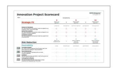 Innovation Project Scorecard: Beweise wertvoller als Meinungen